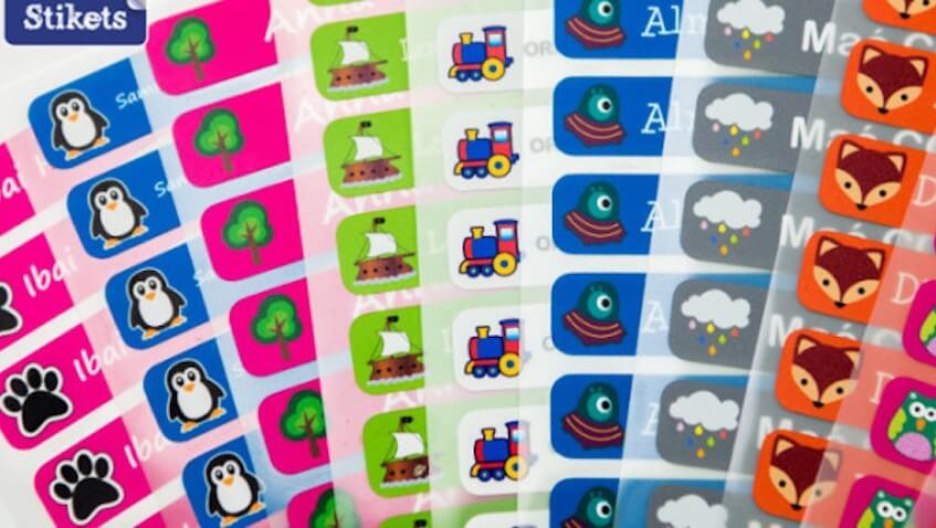 Etiquetas personalizadas diseños infantiles