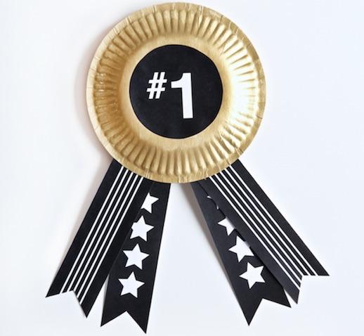 Medalla al mejor padre dorada con cinta negra