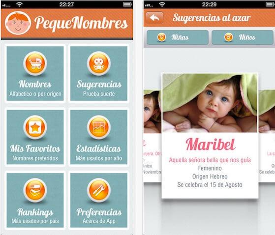 app gratuita nombres de bebés