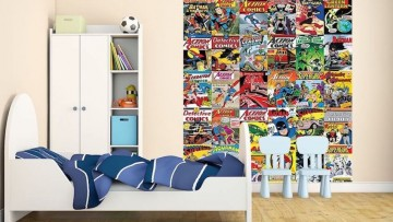 Ideas para decorar habitaciones infantiles con los superhéroes DC Cómics