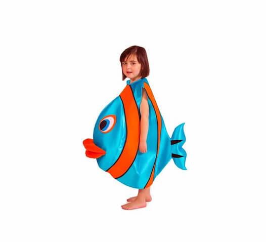 Disfraz pez azul para niños a partir de 1 año