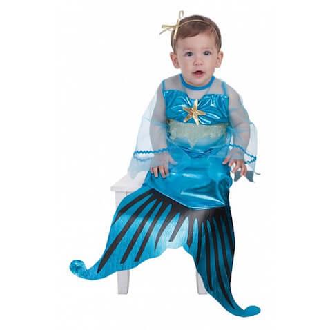 Disfraz de sirenita azul para bebé