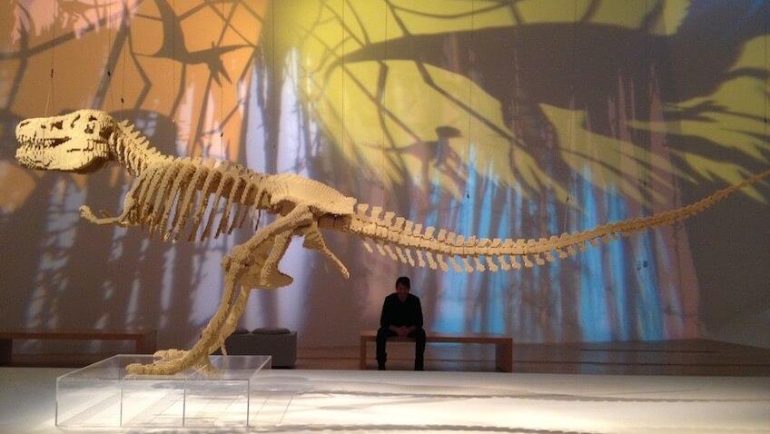 exposicion lego barcelona dinosaurio
