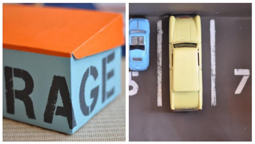 juguetes hechos con cajas zapatos carton