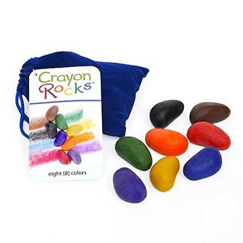 Lápices de cera ecológicos Crayon Rocks en bolsa azul