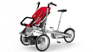 Taga una silla de paseo y bicicleta, dos en uno
