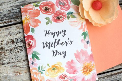 Tarjeta para el Día de la Madre para sólo descargar e imprimir