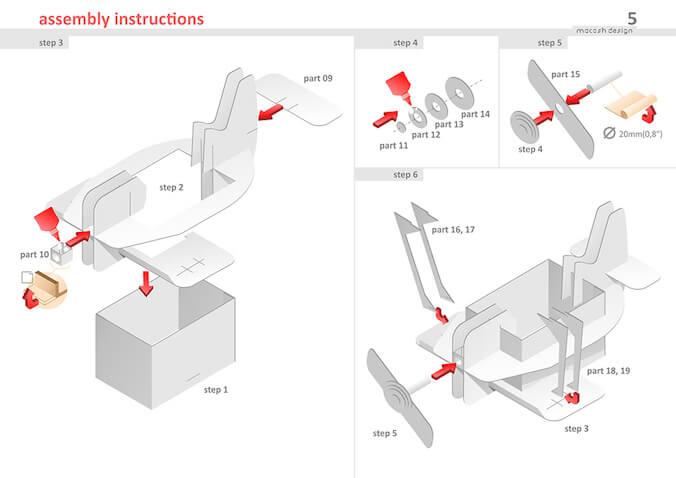 como hacer avion de juguete de carton corrugado