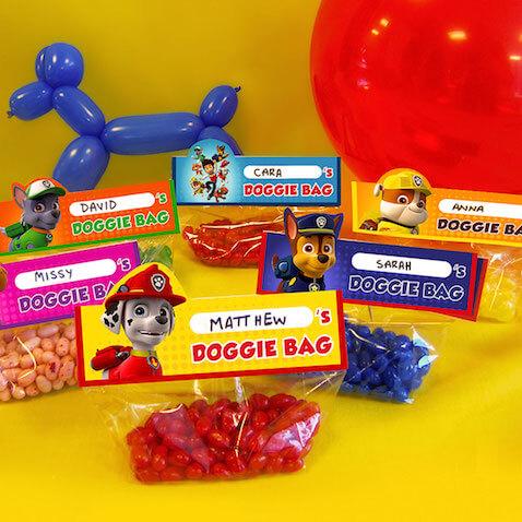 Bolsas de chuches de la Patrulla Canina para imprimir gratis