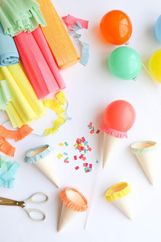 Hacer globos para fiesta cumpleaños de helados