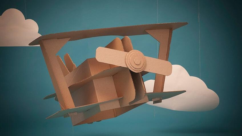 juguetes de cartón DIY avión