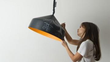 Lámpara infantil original en la que se puede dibujar!