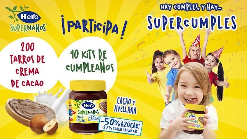 ¡Prueba gratis la nueva Crema de Cacao Hero SuperNanos!