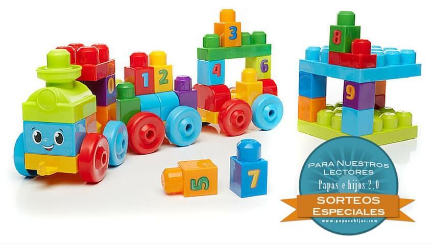 gana tren de juguetes mega bloks