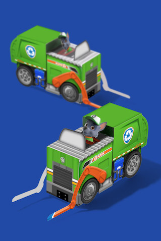 Camión de reciclaje de Rockey