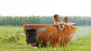 Bañera de hidromasaje exterior para toda la familia de diseño holandés