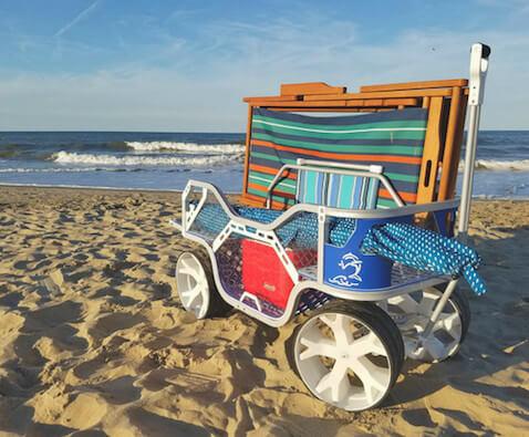 carro de playa para llevar todo