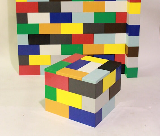 construir con lego pared y mesa