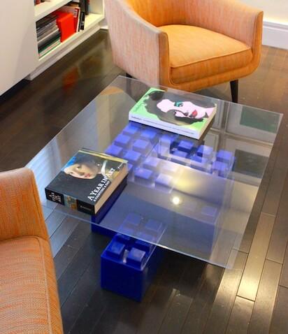 Mesa para el salón azul