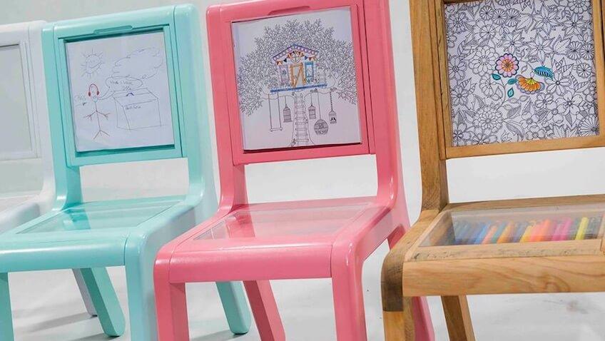 sillas infantiles originales para dibujar