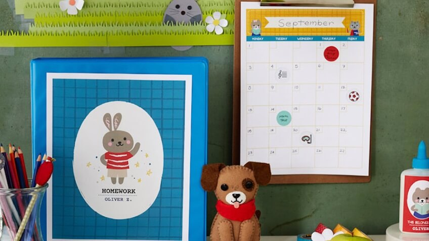 calendario escolar infantil para imprimir