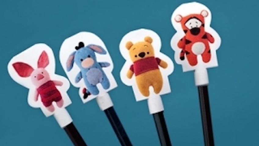 Decora lápices de Winnie pooh y amigos