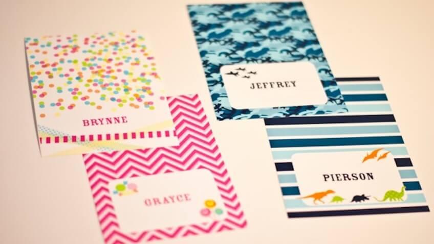 etiquetas personalizadas para imprimir mochilas