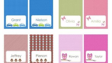 4 modelos de etiquetas personalizadas para marcar las mochilas