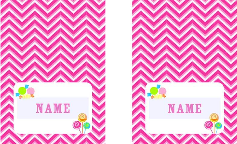 Etiquetas personalizadas para imprimir gratis chevron