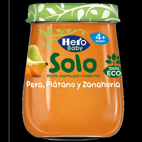 Tarrito Hero Baby Solo Pera, Plátano y Zanahoria