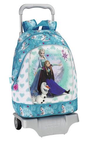 Mochila de Frozen de Elsa y Ana con ruedas