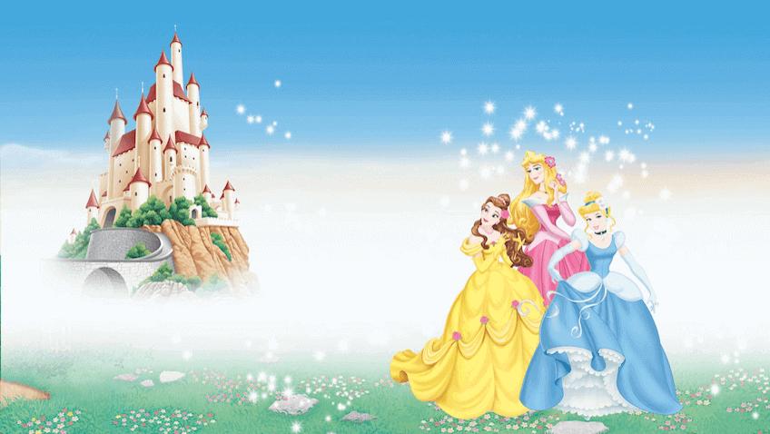 princesas de disney con castillo