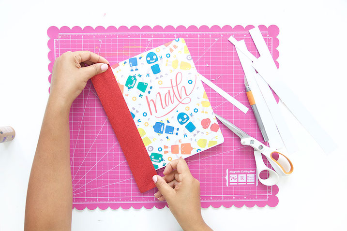 Decorar cuadernos escolares con plantillas para descargare imprimir tutorial DIY