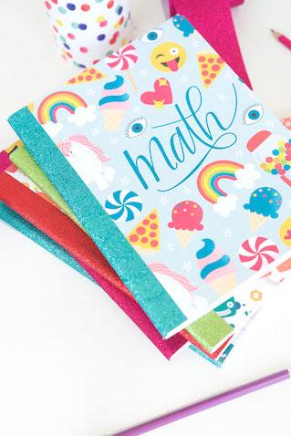 Plantillas para decorar cuadernos escolares para imprimir