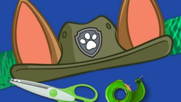 Disfraz infantil casero de Tracker de la Patrulla Canina