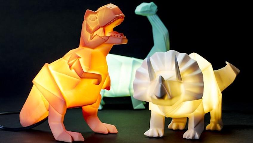 lámparas infantiles originales y divertidas de dinosaurios