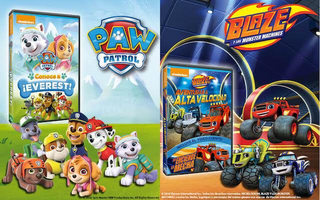 Sorteo DVD infantiles Blaze Monster Machines y La Patrulla Canina