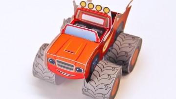 Haz un vehículo de Blaze, de los Monster Machines con tus hij@s