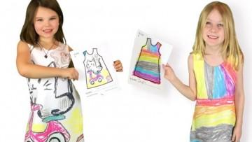 Vestidos de dibujos para que los niñ@s diseñen su propia ropa