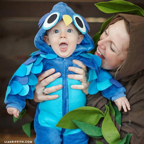 Disfraz de búho para bebés casero