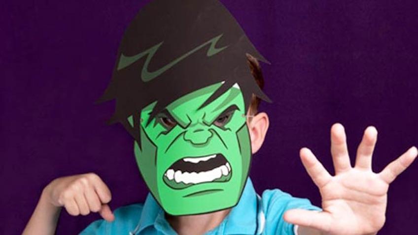 Disfraz casero de Hulk