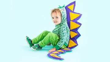 Disfraz de dinosaurio casero para Halloween