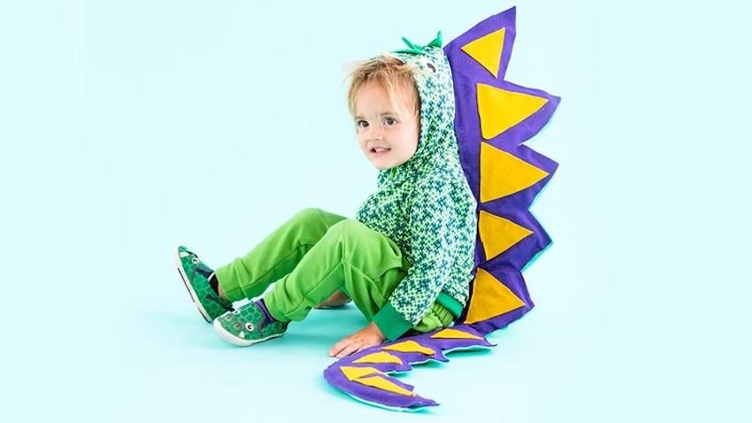 Disfraz de dinosaurio casero para niños