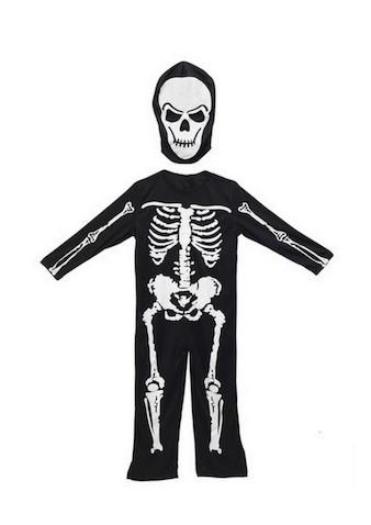 Disfraz infantil Halloween esqueleto brilla en la oscuridad para Halloween