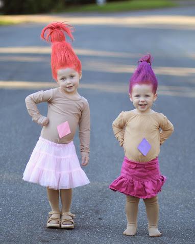 Disfraz casero de la película Trolls para niñ@s