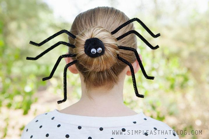 Peinado de araña Halloween