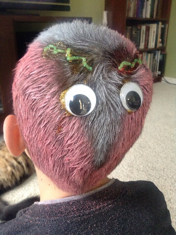 Peinado de Halloween para niños de Monstruo
