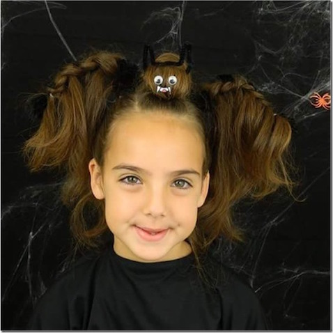 Peinado de murciélago para Halloween