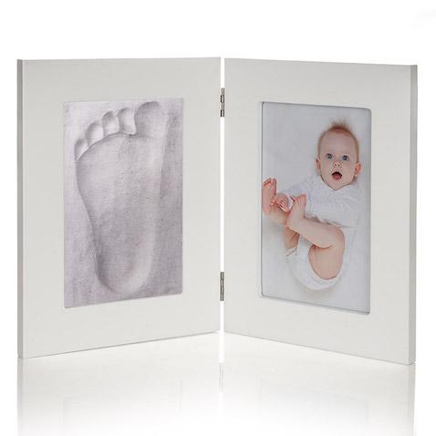 Marco de foto y huella del bebé regalo para bebés recién nacido