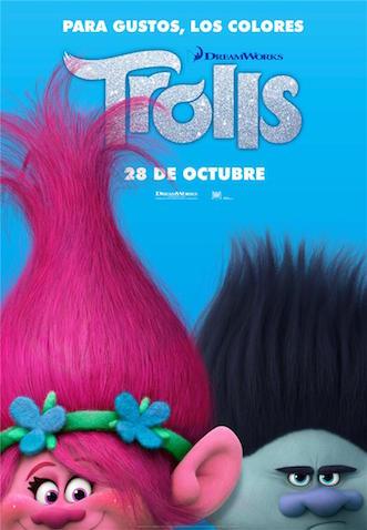 Trolls la película estreno el 28 de octubre